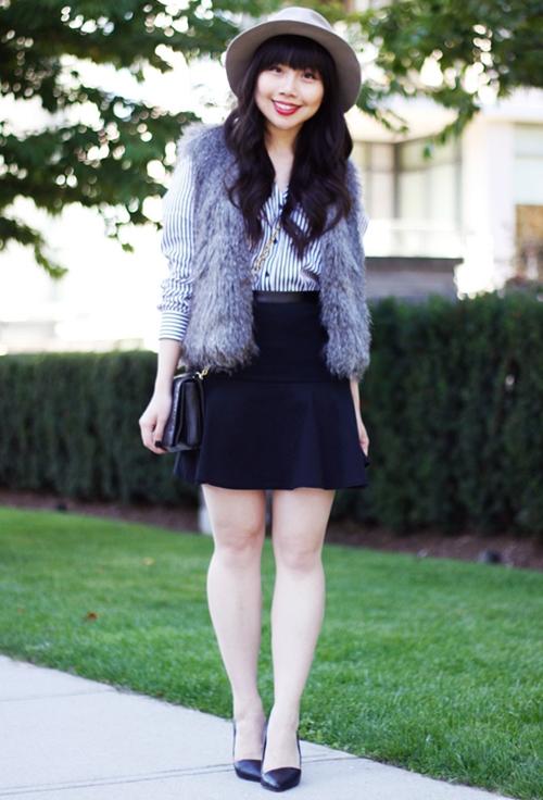 Cách mặc áo khoác dễ thương cho cô bạn nấm lùn những ngày tháng ba